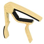 Tiger Capo for Guitar - Light Wood Finish