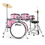 Jasmin Junior Drum Kit - 5 Piece Pink