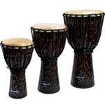 World Rhythm Jammer Rough Bark Dark Djembe Drums