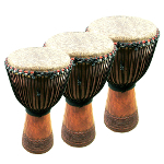 World Rhythm Pro Africa \\'\\'Ivory Coast\\'\\' Djembe Drums