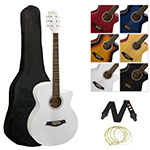 Tiger White Acoustic Guitar Kit