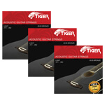 Tiger Acoustic Guitar Strings - Pack of 3 Super Light (11-52) Sets