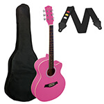 Small Body Acoustic Guitar for Beginners - Pink