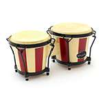 World Rhythm Bongo Drums for Beginners - Striped Finish