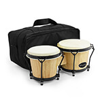 World Rhythm Bongo Drums with Padded Bag