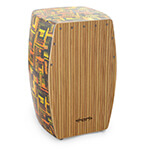 World Rhythm PVC Cajon with Dark Wooden Finish