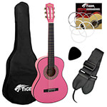 Jasmin 1/4 Size Classical Guitar Pack - Pink