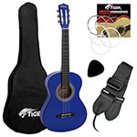 Tiger Childrens 1/2 Size Classical Guitar Package – Blue