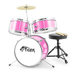 Jasmin Junior 3 Piece Drum Kit - Pink