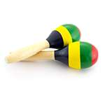 Tiger MAR6-ST Small Wooden Maracas – Multicoloured School Percussion Instrument