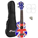 Tiger Union Jack Soprano Ukulele with Bag
