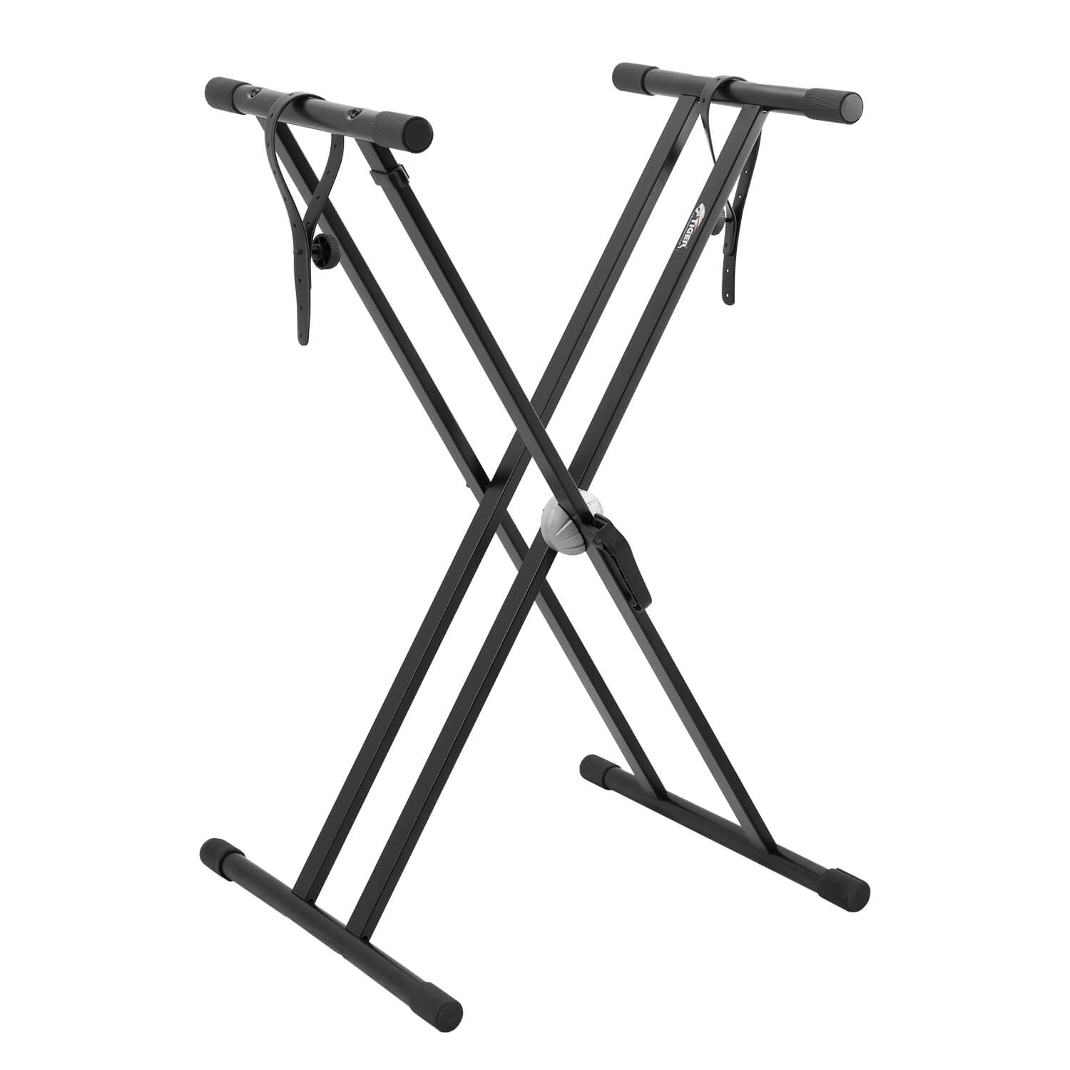 Tiger Double Braced X Frame Keyboard Stand and Securing Straps