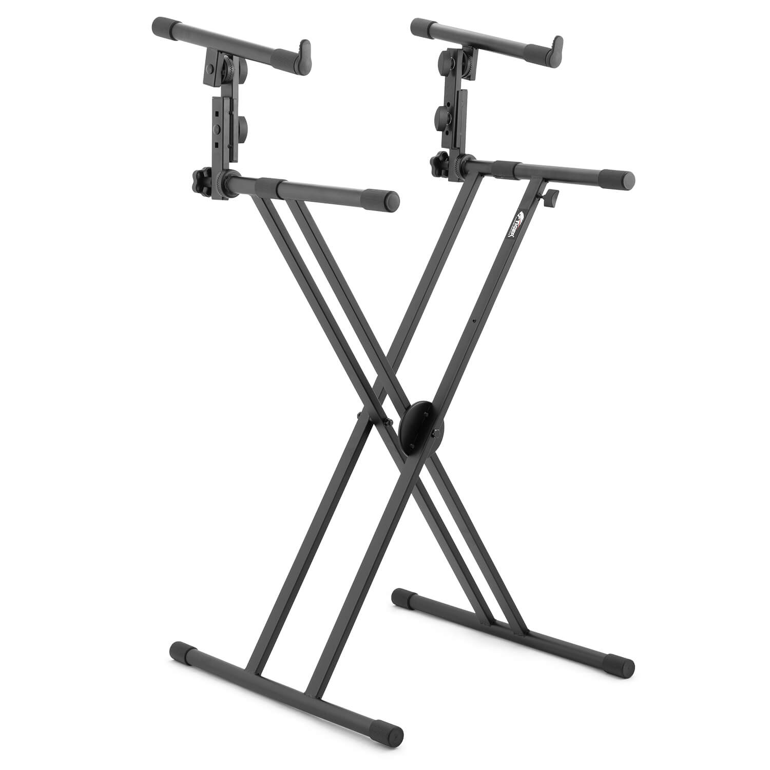 Tiger (KYS56-BK) 2 Tier Double Braced X Frame Keyboard Stand