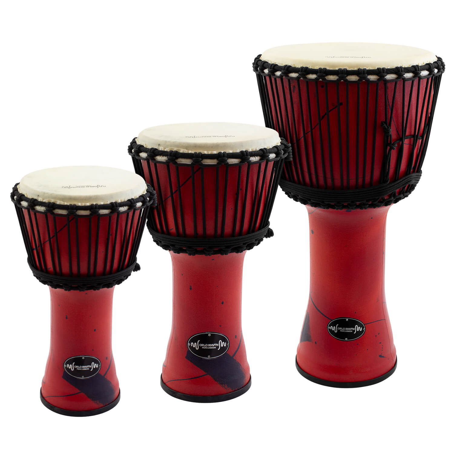Synthetic Djembe Drum By World Rhythm Percussion Plastic African In Red