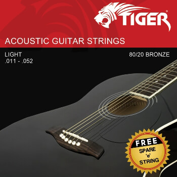 Tiger Acoustic Guitar Strings - Super Light (.011-.052)