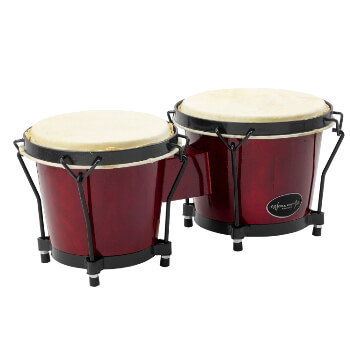 World Rhythm Bongo Drums for Beginners - Red Finish