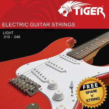 Tiger  Electric Guitar Strings Light - 0.010 - 0.046