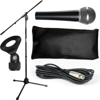 Tiger Microphone with Stand and Cable Package