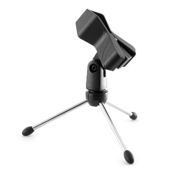 Tiger Desktop Mic Stand - Tabletop Microphone Stand and Clip