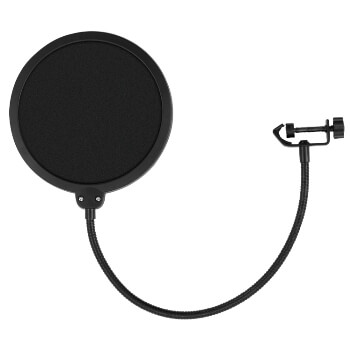 Tiger Pop Filter - Large Studio Microphone Wind Screen - Flexible