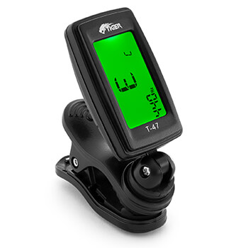 Tiger Guitar Tuner - Clip On Chromatic Tuner