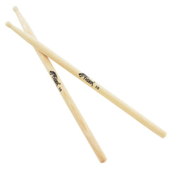 Tiger 5B Hickory Drumsticks with Nylon Tips
