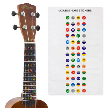Ukulele Note Sticker Sheet for Beginners