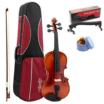 Theodore Student Violin Setup - Beginners 1/4 Size Solid Spruce Top