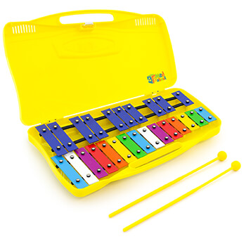 Mad About 25 Note Chromatic Glockenspiel with Case - 2 Beaters Included